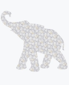 Vintage Baby Elephant Wallpaper Decal by Hanna Andersson