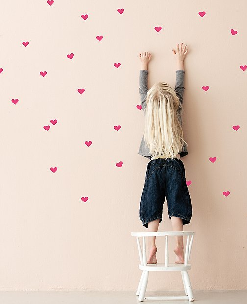 Hearts Wall Decals by Hanna Andersson