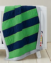 Reversible Rugby Stripe Quilt by Hanna Andersson