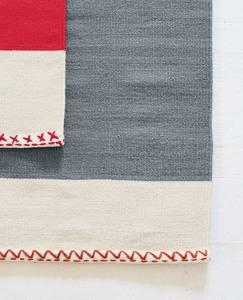 Stripey Wool Dhurrie Rug by Hanna Andersson