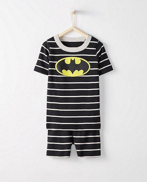 Justice League BATMAN™ Kids Short John Pajamas In Organic Cotton by Hanna Andersson