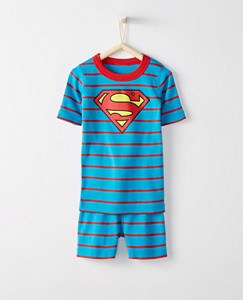 Justice League SUPERMAN™ Kids Short John Pajamas In Organic Cotton by Hanna Andersson