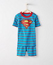 Kids DC Comics™ Superman Short John Pajamas In Organic Cotton by Hanna Andersson