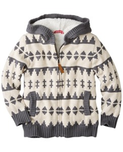 Getting Warmer Sherpa Lined Sweater Hoodie by Hanna Andersson