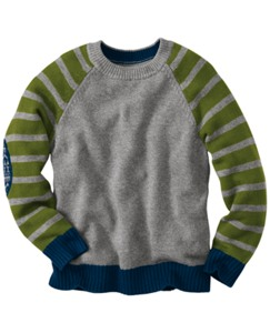 Stripey Sleeve Sweater by Hanna Andersson