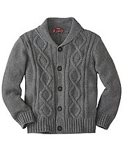 Cotton & Merino Cable Cardigan by Hanna Andersson