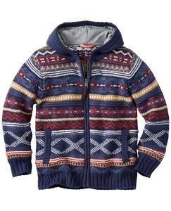 Fair Isle Sweater Hoodie by Hanna Andersson
