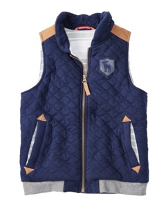 Quilted Varsity Vest by Hanna Andersson