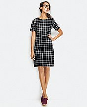 Window Pane Knit Dress by Hanna Andersson