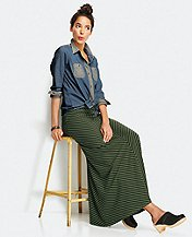 Chevron Maxi Skirt by Hanna Andersson