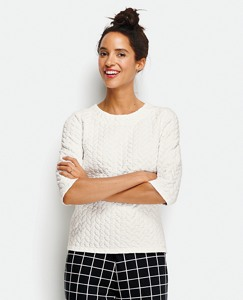 Mod Love Cable Pullover by Hanna Andersson