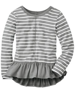 Stripey Peplum Pullover by Hanna Andersson