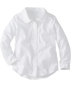 Ruffle Blouse In Swiss Dot by Hanna Andersson
