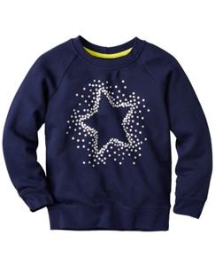 Glitter Star Sweatshirt in 100% Cotton by Hanna Andersson