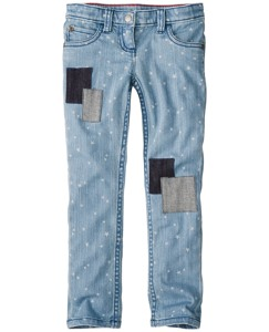 Skinny Jeans With Patchwork by Hanna Andersson