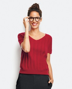 Soft Pointelle Sweater by Hanna Andersson