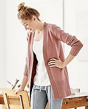 Women's Long Cardigan In Cotton & Merino by Hanna Andersson