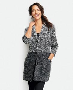 Autumn Bouclé Sweater Coat by Hanna Andersson