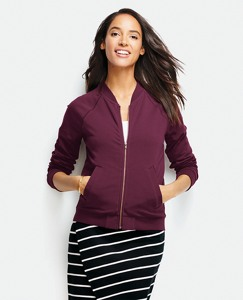 Soft Bomber Jacket In French Terry by Hanna Andersson