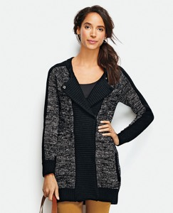 Marled Zip Cardigan by Hanna Andersson