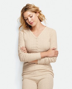 Soft Pointelle Henley by Hanna Andersson
