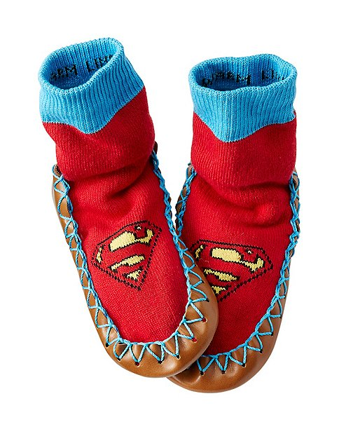 Kids DC Comics™ Superman Slipper Moccasins by Hanna Andersson