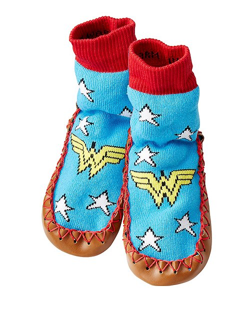 Justice League WONDER WOMAN™ Kids Slipper Moccasins by Hanna Andersson