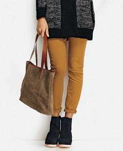 Suede Shoulder Bag by Hanna Andersson