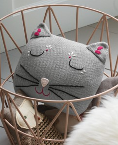 Kitty Knit Pillow by Hanna Andersson