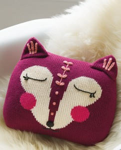 Handknit Fox Pillow by Hanna Andersson