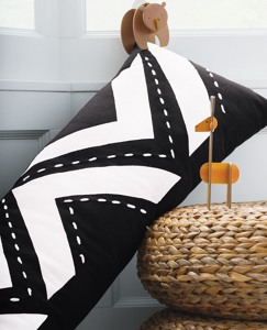 Black + White Lumbar Pillow by Hanna Andersson