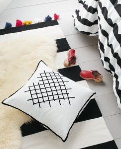 Cross-Stitch Heart Pillow by Hanna Andersson