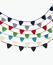 Handknit Flag Garland by Hanna Andersson