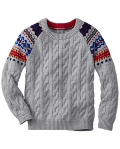 Folk-Mix Fair Isle Sweater by Hanna Andersson