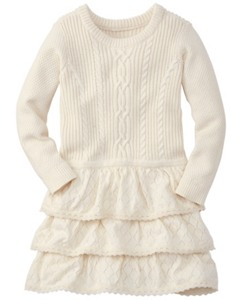 Lacy Cableknit Dress by Hanna Andersson