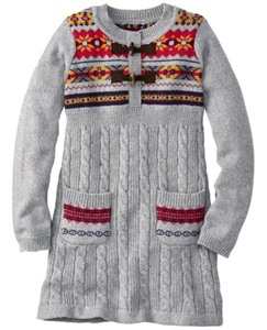 Folk-Mix Fair Isle Sweater Dress by Hanna Andersson
