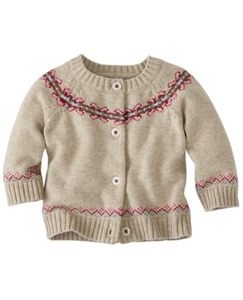 Sweet Fair Isle Cardigan by Hanna Andersson