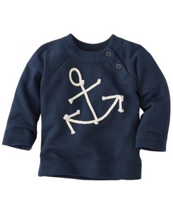 Get Appy Appliqué Sweatshirt In 100% Cotton by Hanna Andersson