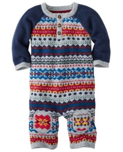 Folk-Mix Fair Isle Romper by Hanna Andersson