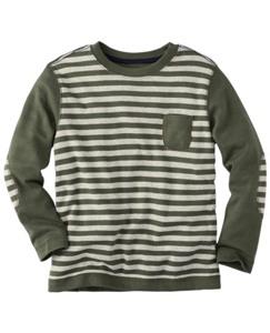Reverse Sleeve Stripe Tee by Hanna Andersson