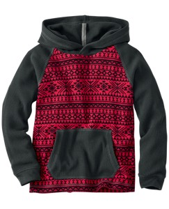 Fair Isle Thermal Hoodie Pullover by Hanna Andersson