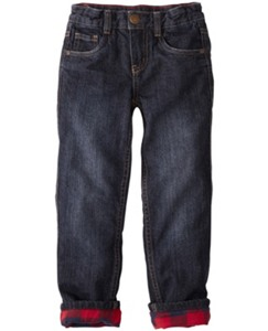 Flannel Lined Straight Leg Jeans by Hanna Andersson
