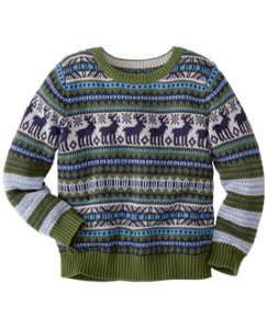 Reindeer Crewneck Sweater by Hanna Andersson