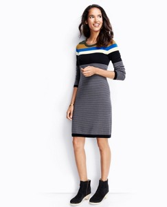 Stripe Mix Sweater Dress In Cotton Cashmere by Hanna Andersson
