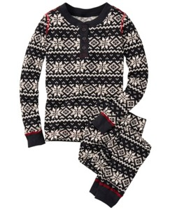 Thermal Long John Pajamas In Organic Cotton by Hanna Andersson
