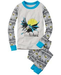 DC Comics™ Batman Long John Pajamas In Organic Cotton by Hanna Andersson