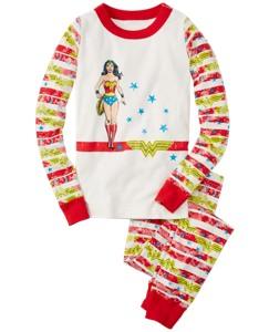 DC Comics™ Wonder Woman Long John Pajamas In Organic Cotton by Hanna Andersson