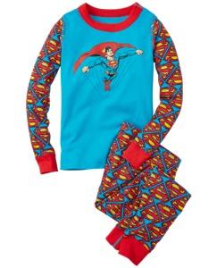 DC Comics™ Superman Long John Pajamas In Organic Cotton by Hanna Andersson