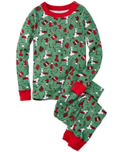 Peanuts Long John Pajamas In Organic Cotton by Hanna Andersson