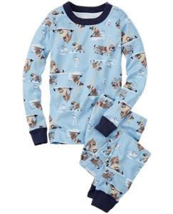 Disney Frozen Long John Pajamas In Organic Cotton by Hanna Andersson
